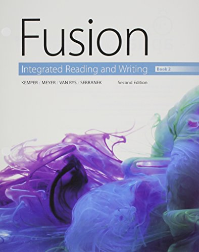 Fusion Integrated Reading and Writing, Book 2 2nd 9781305633957 Front Cover