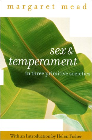 Sex and Temperament In Three Primitive Societies  2002 edition cover