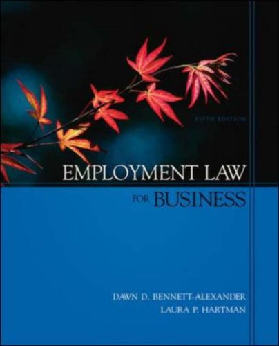Employment Law for Business  5th 2007 (Revised) edition cover