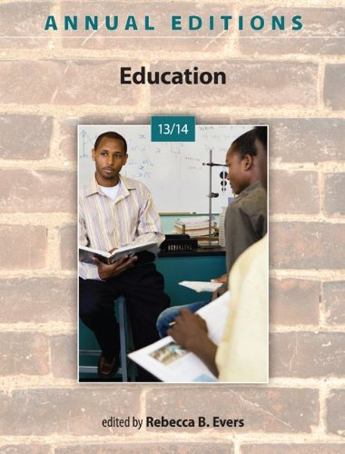 Annual Editions: Education 13/14  40th 2013 edition cover