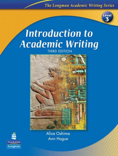 Introduction to Academic Writing  3rd 2006 edition cover