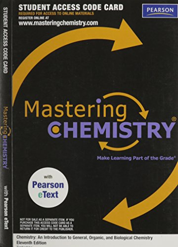 MASTERING CHEMISTRY-STUD.ACCES N/A edition cover
