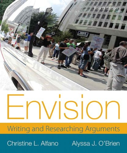 Envision: Writing and Researching Arguments  2013 edition cover