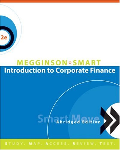 Introduction to Corporate Finance, Abridged Edition (with SMARTMoves Printed Access Card and Thomson ONE)  2nd 2009 edition cover