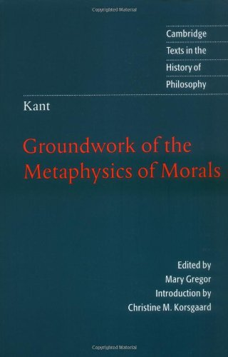 Groundwork of the Metaphysics of Morals   1998 edition cover