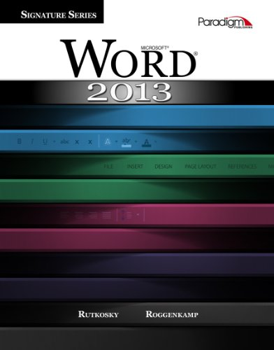 MICROSOFT WORD 2013:SIGNATURE- N/A edition cover