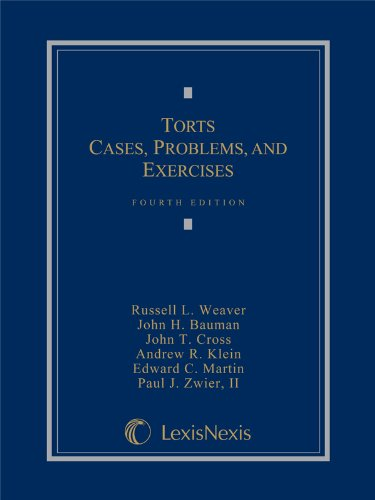 TORTS:CASES,PROBLEMS,+EXERCISE N/A edition cover