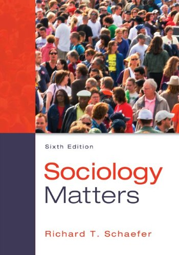 Sociology Matters 6th 2014 9780078026959 Front Cover
