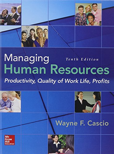 Managing Human Resources: Productivity, Quality of Work Life, Profits  2015 edition cover
