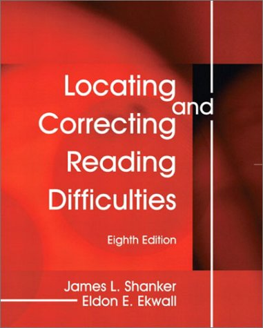 Locating and Correcting Reading Difficulties  8th 2003 edition cover