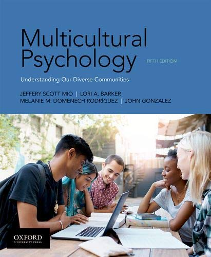 Multicultural Psychology  5th 2020 9780190854959 Front Cover