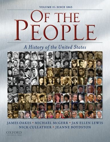 Of the People A History of the United States since 1865  2009 edition cover
