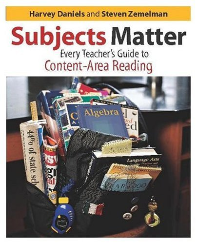 Subjects Matter Every Teacher's Guide to Content-Area Reading  2004 edition cover