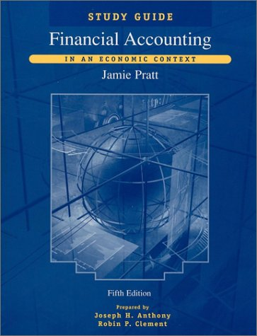 Financial Accounting In an Economic Context 5th 2003 9780471238959 Front Cover