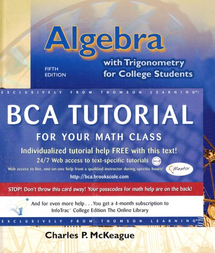 Algebra with Trigonometry for College Students  5th 2002 (Revised) edition cover
