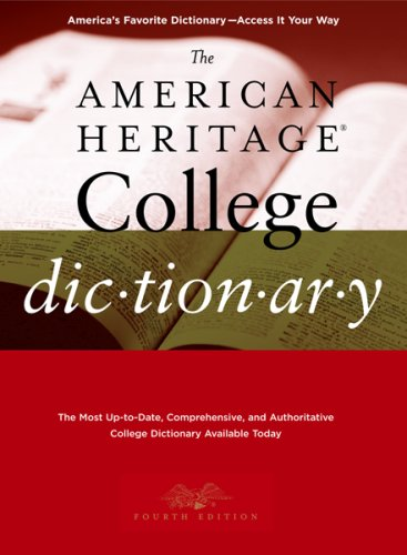 American Heritage College Dictionary  4th 2007 edition cover