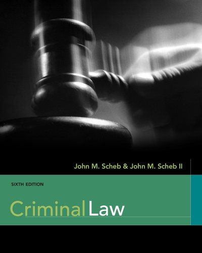 Criminal Law  6th 2012 edition cover