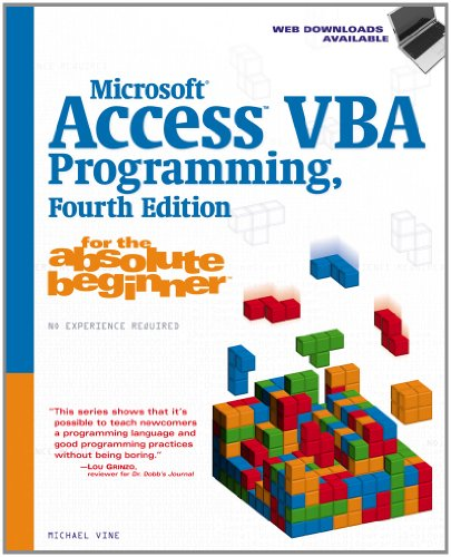 Microsoft Access VBA Programming for the Absolute Beginner  4th 2012 9781133788959 Front Cover