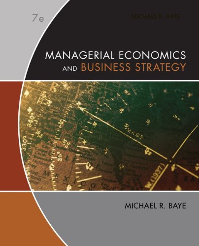 Managerial Economics and Business Strategy  7th 2010 edition cover
