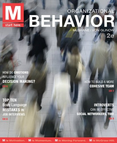 M: Organizational Behavior with Connect Plus  2nd 2014 9780077801960 Front Cover