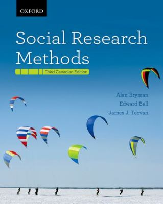 Social Research Methods Third Canadian Edition 3rd 2012 9780195442960 Front Cover