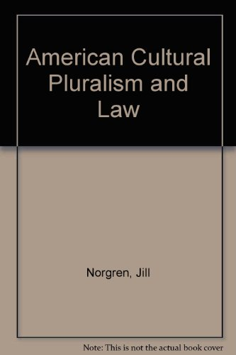 American Cultural Pluralism and the Law   1988 9780275926960 Front Cover