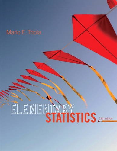 Elementary Statistics  12th 2014 9780321836960 Front Cover
