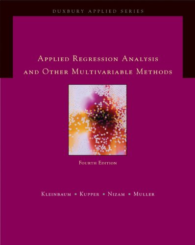 Applied Regression Analysis and Other Multivariable Methods  4th 2008 edition cover
