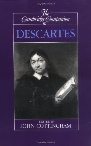 Cambridge Companion to Descartes   1992 edition cover