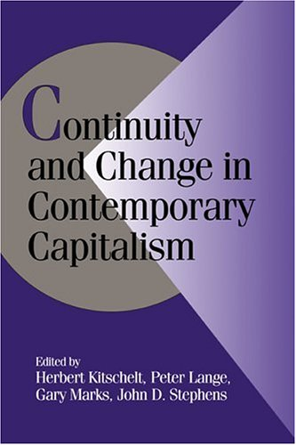 Continuity and Change in Contemporary Capitalism   1999 edition cover