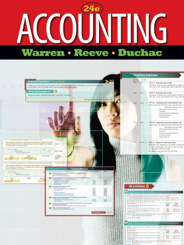 Accounting: Chapters 1-13 24th 2011 edition cover