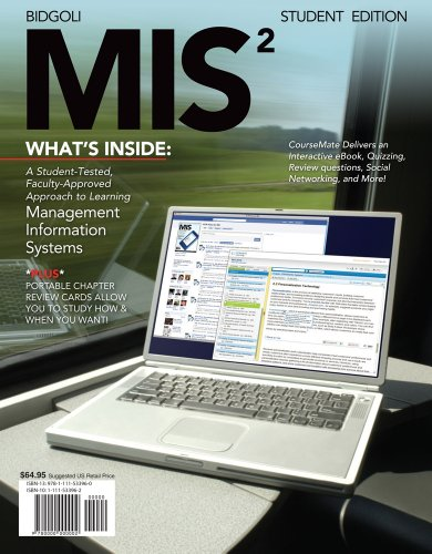 Mis2 (With Review Cards and Coursemate Printed Access Card) Management Information System 2nd 2012 edition cover
