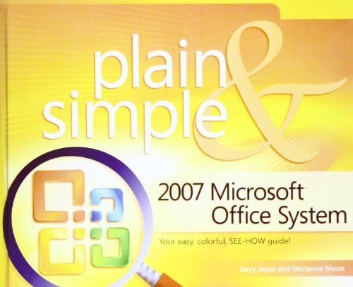2007 Microsoft Office System Plain and Simple:  2008 edition cover