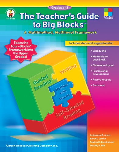 Teacher's Guide to Big Blocks, Grades 4-8 A Multimethod, Multilevel Framework  2005 (Teachers Edition, Instructors Manual, etc.) edition cover