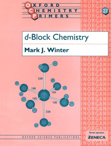 D-Block Chemistry   1994 edition cover