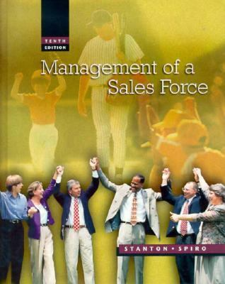 Management of A Sales Force  10th 1999 9780256218961 Front Cover