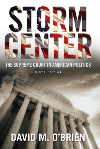 Storm Center The Supreme Court in American Politics 9th 2011 edition cover