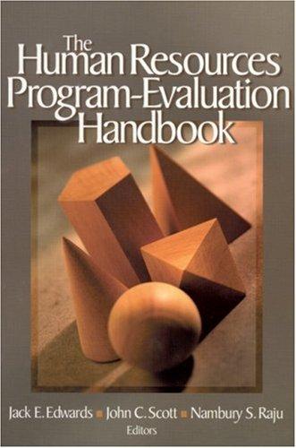 Human Resources Program-Evaluation Handbook   2003 edition cover