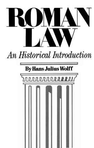Roman Law An Historical Introduction Reprint  edition cover