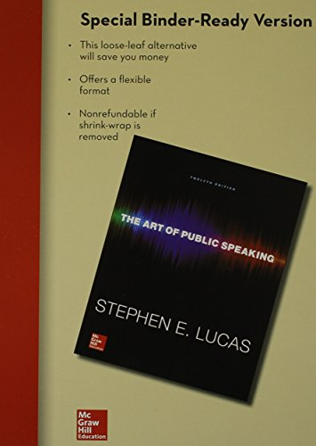 Art of Public Speaking  12th 2015 9781259542961 Front Cover