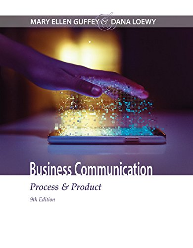 Business Communication: Process & Product  2017 9781305957961 Front Cover