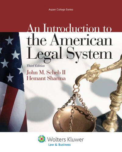 Introduction to the American Legal System  3rd 2012 (Revised) edition cover