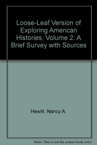 Exploring American Histories   2013 edition cover