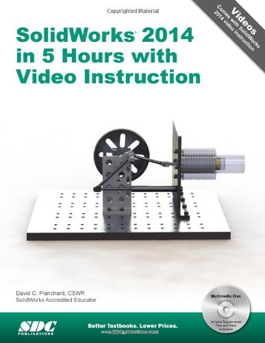 SolidWorks 2014 in 5 Hours with Video Instruction  N/A 9781585038961 Front Cover