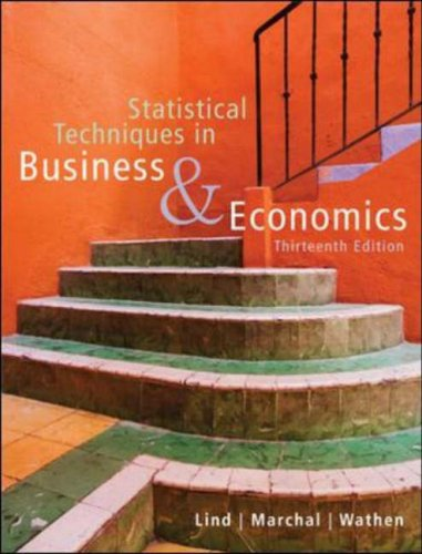 Statistical Techniques in Business and Economics  13th 2008 (Revised) edition cover