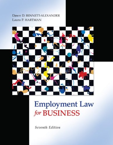 Employment Law for Business  7th 2012 edition cover