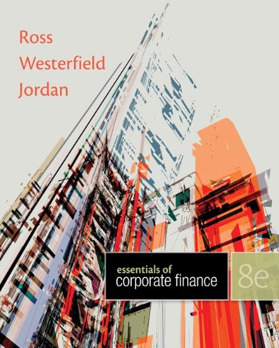 Loose Leaf Essentials of Corporate Finance with Connect Plus  8th 2014 edition cover