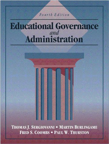 Educational Governance and Administration  4th 1999 edition cover