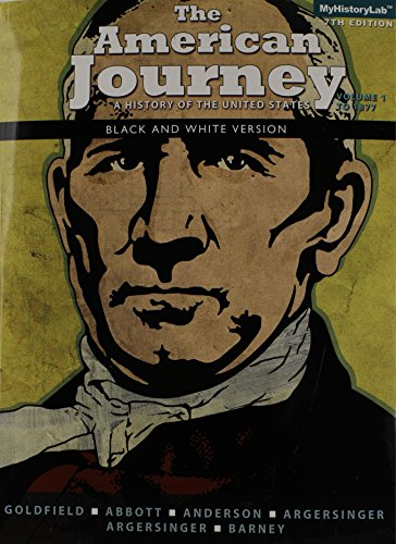 American Journey, Volume 1, Black and White  7th 2014 edition cover