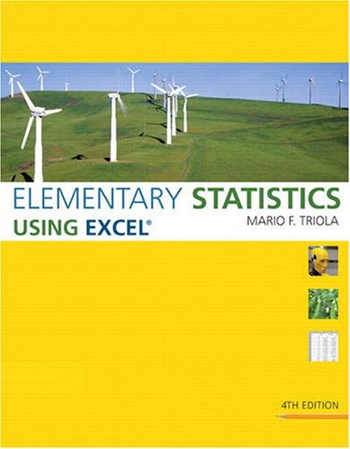 Elementary Statistics Using Excel  4th 2010 9780321564962 Front Cover
